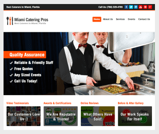 Caterer Website Design